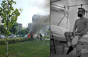 """27-latek straci� nog� w wybuchu na Bemowie. """"Prosz� o pomoc"""""""
