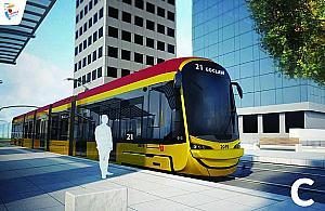 """Oto nowy tramwaj dla Warszawy. Wybrali�my """"u�miechni�ty"""""""