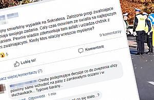"""Kolejny �miertelny wypadek na Sokratesa"". Tak dzia�a Facebook"