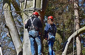 """Tyrolki mi�dzy drzewami. """"Nowa wizyt�wka"""" Bia�o��ki?"""