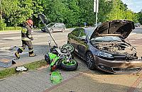 Wypadek na G��bockiej. Ucierpia� motocyklista