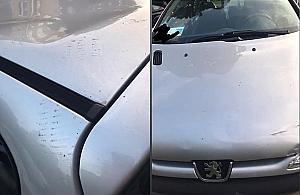 """Skakali po dachu samochodu? """"Pani źle zaparkowała"""""""