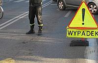 Wypadek na P�ochoci�skiej. Motocyklista w szpitalu