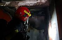 Ogromny po¿ar w gara¿u podziemnym przy Górczewskiej