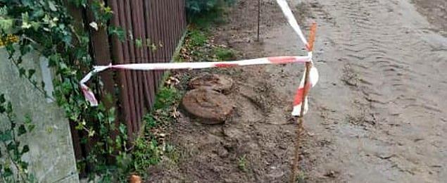 Miny pod p³otem. Niebezpieczne znalezisko na ¯eraniu