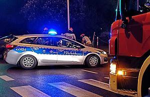 Wypadek na P³ochociñskiej. Dziecko w szpitalu