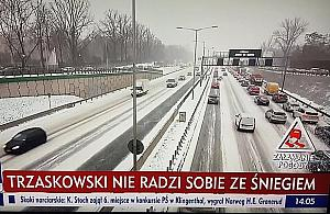 ¯enuj±ca kompromitacja TVP. Premier Morawiecki nie radzi sobie ze ¶niegiem?