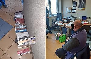 Handlowali lewymi papierosami na Wolumenie. Mieli prawie 2800 paczek