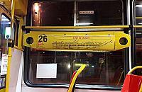 Wieczorny powrót tramwajem na Bemowo. Wy¶wietlacze k³ami±, tablice równie¿
