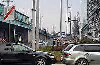 Gro¼ny wypadek na trasie Prymasa. Przewróci³ siê bus z acetylenem