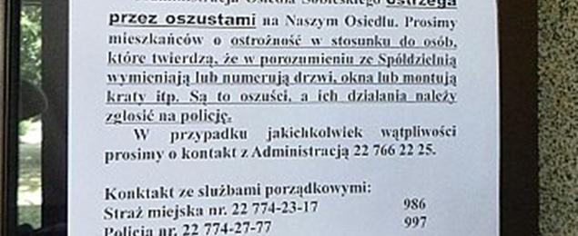 """Oszukali emerytkê metod± """"na wymianê drzwi"""". Policja umywa rêce"""
