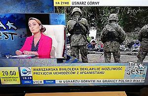 """""""Bia³o³êka deklaruje mo¿liwo¶æ przyjêcia uchod¼ców"""". Wpadka TVN24"""