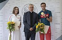 """Mistrz olimpijski studiuje na Bielanach. """"Medal napêdza do pracy"""""""