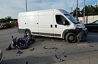 Ostródzka: Kierowca busa potr±ci³ 17-latka na motocyklu