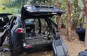 Skradzione na Tarchominie auto rozebrali w trzy godziny